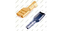 Crimp Female Spade Terminal Connector 4.8mm (Brass) with Cover