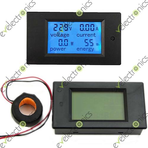 Ammeter Vs Voltmeter : A v ac digital lcd voltmeter ammeter
