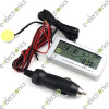 DC 12V LCD Auto Car Digital Thermometer Temperature Meter in out Inside Outside