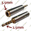 2.5mm Male to 3.5mm Female Stereo Audio Adapter Converter Jack