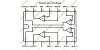 LM348N Quadruple Operational Amplifier DIP-14