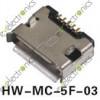 Micro USB B Female 5Pin SMT Socket Connector HW-MC-5F-03