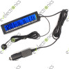 3 in 1 LCD Digital Indoor Outdoor Clock Car Temperature Thermometer