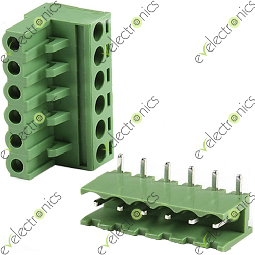 Block Connector 2edgk L Type 6pos 5 08mm 300v 15a