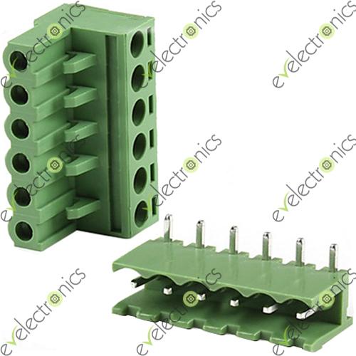 Block Connector 2edgk L Type 6pos 5 08mm 300v 15a