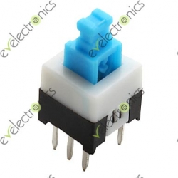 8.5x8.5 SELF LOCK Push Switch 6p