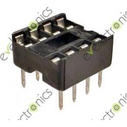 8 Pin DIP8 Flat Base IC Socket