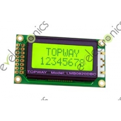 8x2 Green Character Display with Backlight LCD