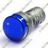 Blue Neon Indicator Signal Light Lamp 220VAC 22mm HQ