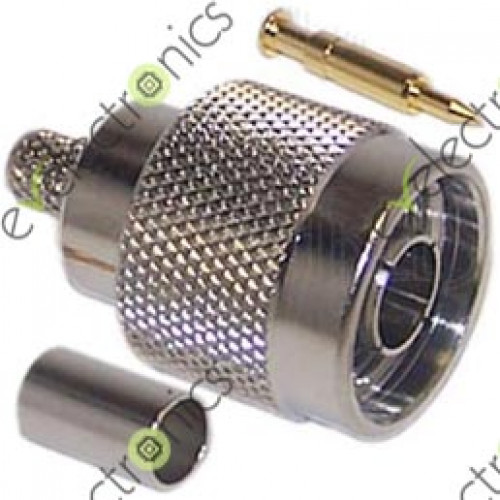 n type male crimp connector for rg58. Black Bedroom Furniture Sets. Home Design Ideas