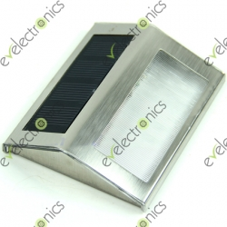 Outdoor Solar Power 2 LED Light Garden Pathway Stairs Lamp