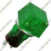 Square Neon Indicator Green 220VAC