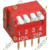 4 Positions Piano Type Dip Switch