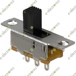 3 Pin Small Vertical Slide Switch 1P2P SPDT (SS12F15-G6)
