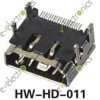 HDMI 19Pin SMT Type-A Female 4 Legs Socket Connector HW-HD-011