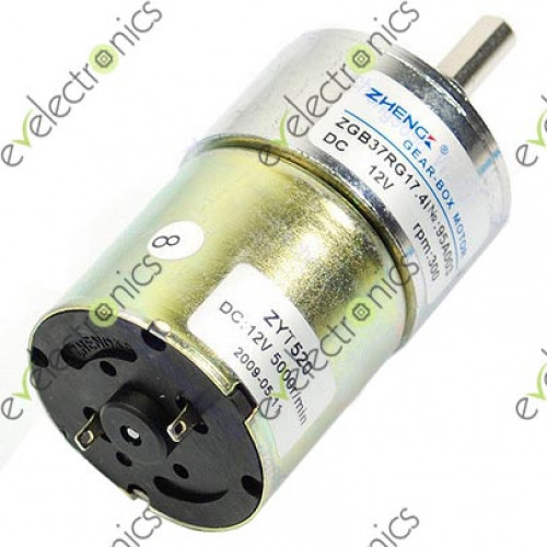 37mm 12v dc 300 rpm gear motor for Dc gear motor 12v 500 rpm