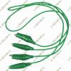 Dual Mini Crocodile Alligator Clips Wire (Green)