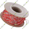 Jumper Wire Red and White Pair AWG26 (Per Meter)