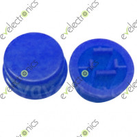 Round Switch CAP For Tact Switches (Blue)