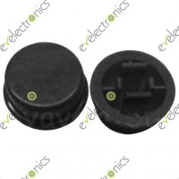 Round Switch CAP For Tact Switches (Black)