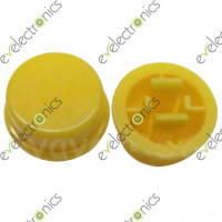Round Switch CAP For Tact Switches (Yellow)