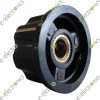 Skirted Knob A03 Black D 27mm H 16mm Hole Diameter 6mm