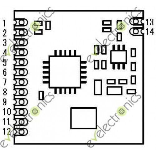 SI4432 433M transceiver module Distance 1500M