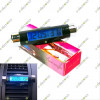 2in1 Clip-on Digital Blue Backlight Thermometer Clock