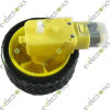 Biaxial DC Gear Motor   Smart Car Robot Plastic Tire Wheel Gear Rate 1:48