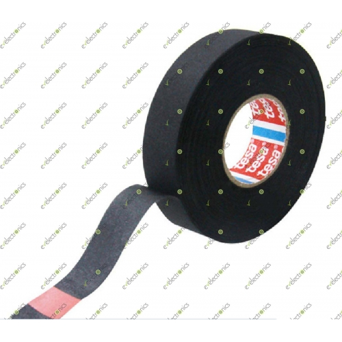 19mm Black Automotive Wiring Harness High Heat Resistant Tape