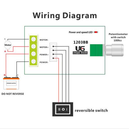 dc 6v 28v 3a pwm motor speed switch reversible